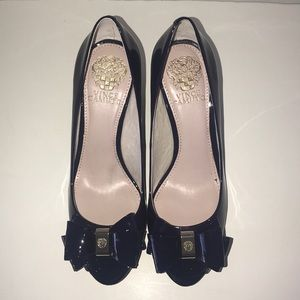 Vince Camuto Midnight Navy Blue Patent Wadge